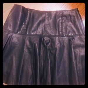 Free People NWT Black Faux Leather skirt